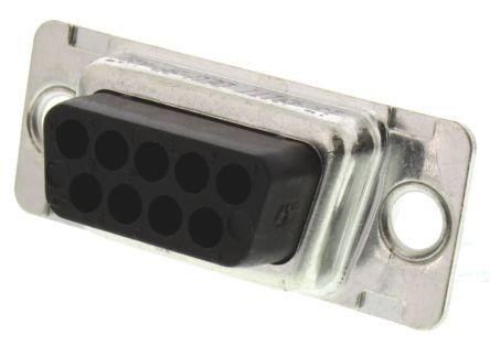 ITT Cannon D*U Series Straight Crimp D-Sub Connector Housing, Plug, 9 Pin
