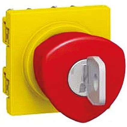 Legrand, Red, Yellow, Key Release Mushroom Head E-Stop