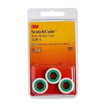 3M SDR-6 Wire Markr Refill,Preprintd,Self-Adhesiv