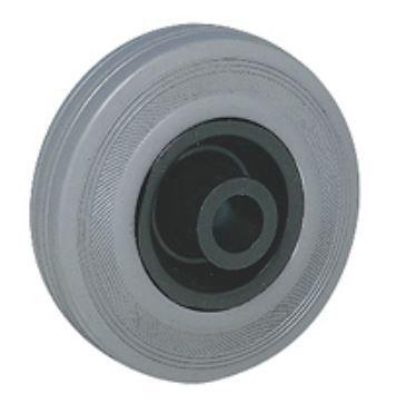 Guitel Black, Grey Rubber Castor Wheels 55251245, 125daN