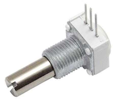 Vishay 249BBHS0XB25503KA 1 Gang Rotary Cermet Potentiometer with a 3.18 mm Dia. Shaft, Panel Mount (Through Hole), 50kΩ