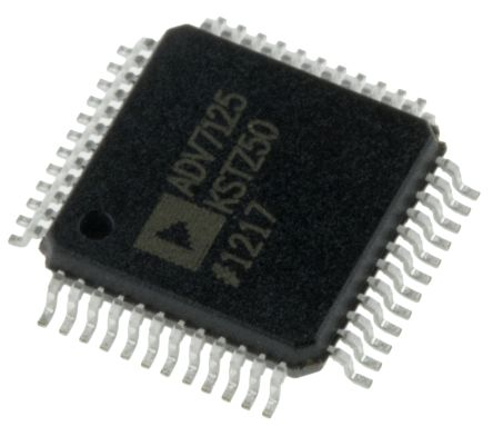 ADV7125KSTZ50, Video DAC Triple, 8 bit- 50Msps ±5%FSR Parallel, 48-Pin LQFP