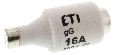 ETI 16A DII Diazed Fuse, E27 Thread Size, gG - gL, 500V ac