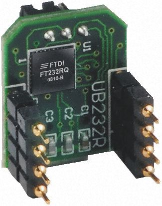 FTDI Chip, Type B USB to UART Evaluation Module for FT232RQ, UB232R