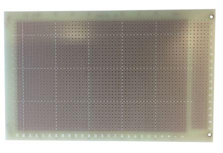 10-2449, Single-Sided Stripboard Epoxy Glass 160 x 100 x 1.6mm DIN 41612 FR4 product photo