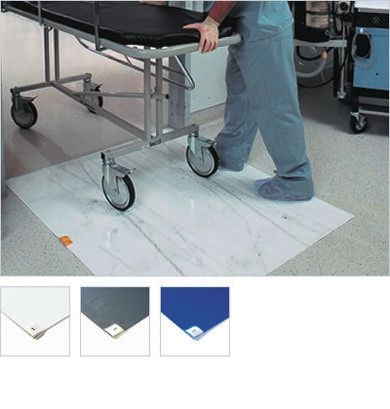 First Step Blue Carpet, Hard Floor Floor Protection Self Adhesive Cleanroom x 450mm, 1.2m 1.5mm product photo