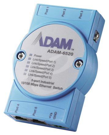Advantech 5 RJ45 port DIN Rail, Stack, Wall Mount Industrial Hub, 10 Mbit/s, 100 Mbit/s