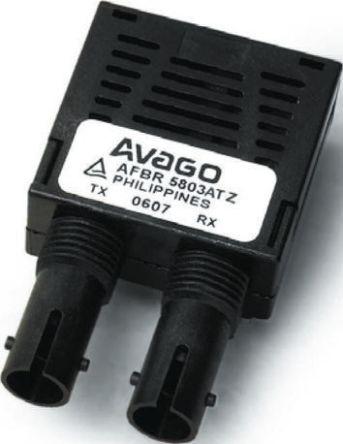 Broadcom AFBR-5803ATQZ Fibre Optic Transceiver, ST Connector, 155Mbit/s,  1360Nm 10-Pin