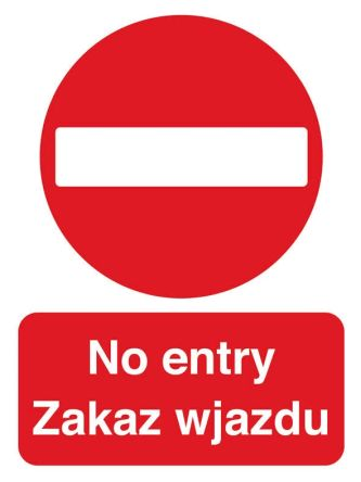 Wpol2b R Signs Labels Pvc No Access Entry Prohibition Sign