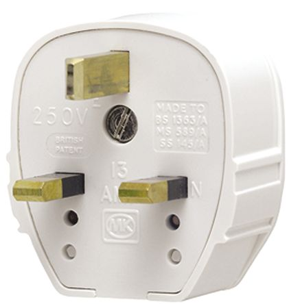 Superb 655 Whi Mk Electric Uk Mains Plug Bs 1363 13A Cable Mount Rs Wiring Database Pengheclesi4X4Andersnl