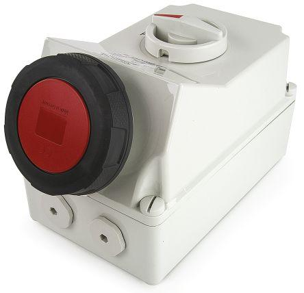 Switchable IP67 Interlocked Socket 3PN+E, Earthing Position 6h, 63A, 400 V product photo