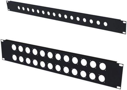 19-inch Rack Panel, 2U, Black, Steel