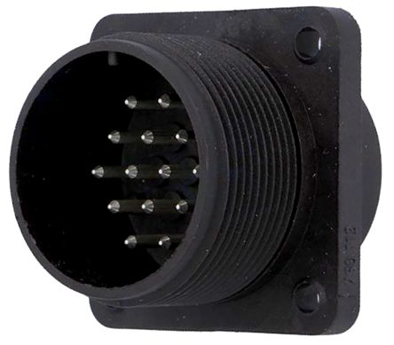 Amphenol MS3102A Series, 37 Way Box Mount MIL Spec Circular Connector Receptacle, Pin Contacts,Shell Size 28, Screw