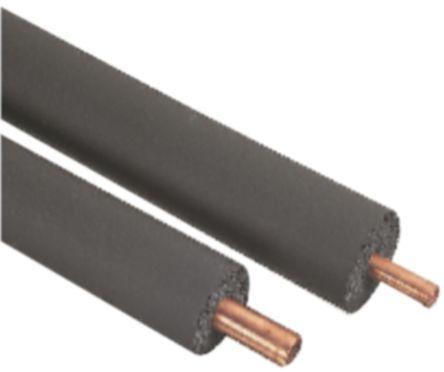Black Nitrile Rubber Pipe Insulation, 15mm dia. x 25mm x 2m