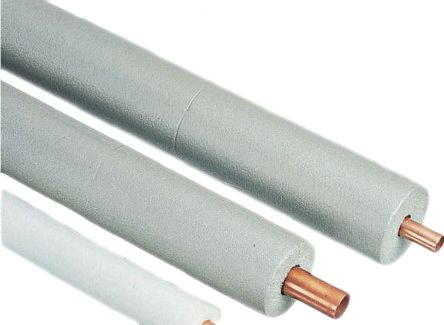 Grey PE Pipe Insulation, 22mm dia. x 19mm x 2m