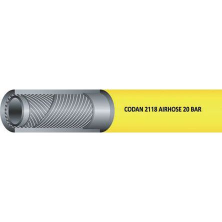 RS PRO 25m Long Yellow Hose Pipe, Applications Air, Water, 25mm Inner Diam.