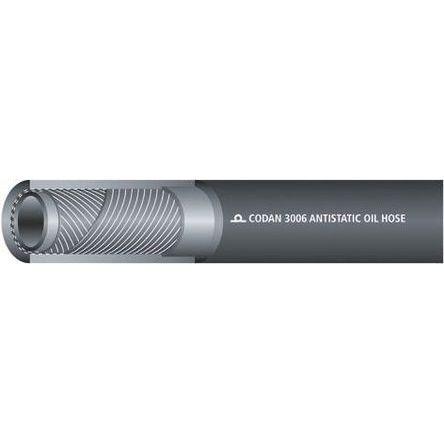 RS PRO 25m Long Black Hose Pipe, Applications Diesel, Oil, Paraffin, 9.5mm Inner Diam.