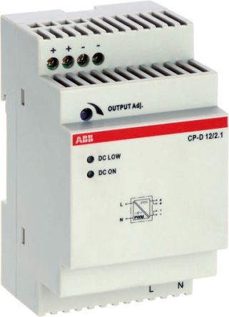 CP-D Switch Mode DIN Rail Panel Mount Power Supply, 24W, 12V dc/ 2.1A