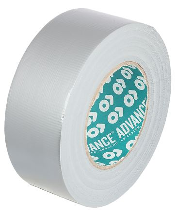Advance Tapes AT170 Gloss Silver Duct Tape, 25m x 50mm x 0.20mm