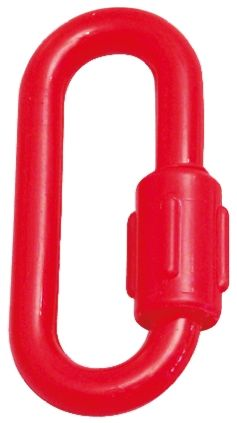 Red Plastic Material Barrier & Stanchion Chain Link for use with Barrier, Post, Signage, 8 (Dia.)mm product photo