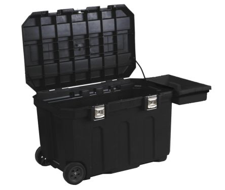 2 drawer Metal Wheeled Tool Chest, 946mm x 578mm x 578mm product photo