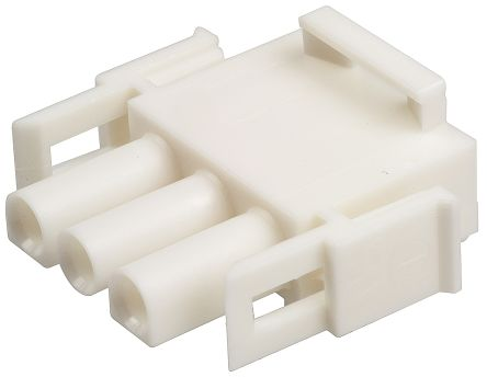 TE Connectivity Universal MATE-N-LOK Male Connector Housing, 6.35mm Pitch, 3 Way, 1 Row