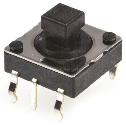 Joystick Switch, 2 axes, 50 mA@ 12 V ac Through Hole 12V dc