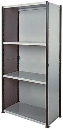Steel Grey Modular Shelving Clad Starter Bay, 2100mm, 1000mm x 1m x 500mm product photo