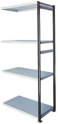 Steel Grey Modular Shelving Open Extension Bay, 2100mm, 1000mm x 1m x 400mm product photo
