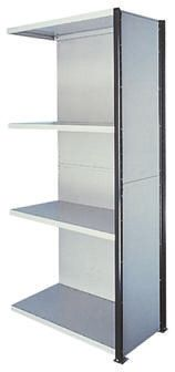 Steel Grey Modular Shelving Clad Extension Bay, 2100mm, 1000mm x 1m x 500mm product photo