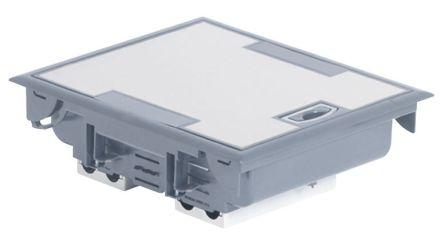 Legrand Grey Floor Box, 4 Compartments 255 mm x 215mm