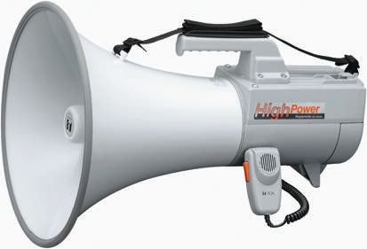 Grey Shoulder Megaphone, ER2230W, 30 W, Whistle product photo
