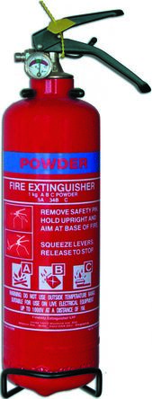 Fireblitz 2kg Dry Powder Fire Extinguisher for Electrical, Vehicle (A, B, C)