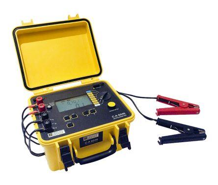 Chauvin Arnoux CA 6240 Rechargeable NiMH Micro Ohm Meter, Maximum Resistance Measurement 399.9 Ω, Resistance