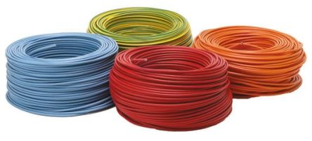 Blue Hook Up Wire 2491X, 10 mm² CSA , 750 V 7 AWG, 100m product photo