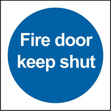 RS PRO Vinyl Fire Safety Sign, With English Text Self-Adhesive, 100 x 100mm