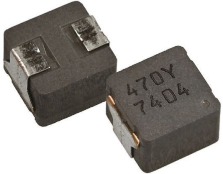 Panasonic ETQP5M Series Wire-wound SMD Inductor with a Metal Composite Core, 2.45 μH ±20% Wire-Wound 14A Idc