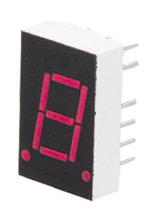 HDSP-3353 Broadcom 7-Segment LED Display, CC Red 1.48 mcd RH DP 10.9mm