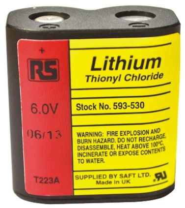 223 A/H, 6V Lithium Thionyl Chloride Computer Backup Power Battery product photo