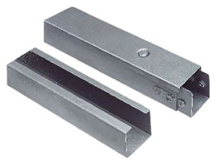 Industrial Trunking Grey, W75 mm x D75mm, L3m Galvanised Steel product photo