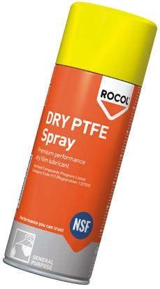 Rocol Lubricant PTFE 400 ml Dry PTFE Aerosol,Food Safe