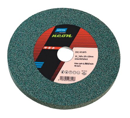 Aluminium Oxide Grinding Wheel, 4460rpm, 150mm x 20mm x 31.75mm Bore product photo