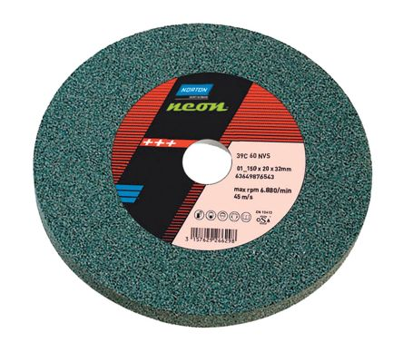 Silicon Carbide Grinding Wheel, 4460rpm, 150mm x 20mm x 31.75mm Bore product photo
