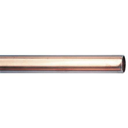 RS PRO 58 bar 2m Long Copper Pipe, 15mm Outer Diam. Copper