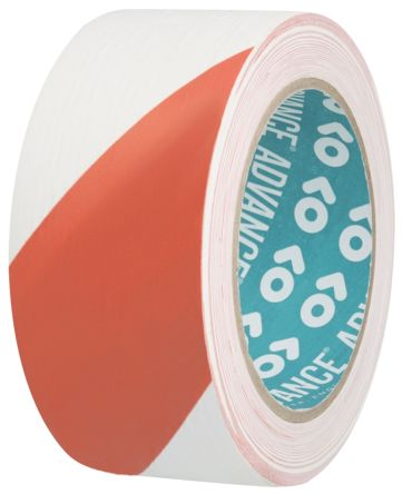 AT8 Red/White PVC 33m Hazard Tape, 50mm x product photo