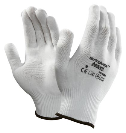 Ansell Stringknits White General Purpose Nylon Reusable Gloves 9 - M