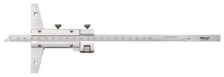 Mitutoyo 527-102 Stainless Steel Vernier Depth Gauge, 200mm