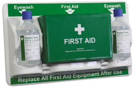 Wall Mounted First Aid Kit for 10 people, 510 mm x 290mm x 70 mm
