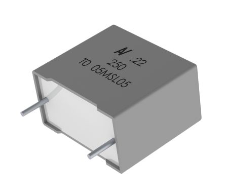 KEMET 2 2μF Polyester Capacitor PET 63 V ac, 100 V dc ±5% R60 Series  Through Hole