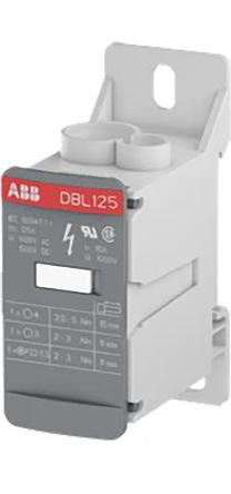ABB Distribution Block, 10 → 35 (End 1) mm², 2.5 → 16 (End 2) mm², 6 → 16 (End 1) mm², 8 Way